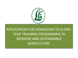 Leventis Foundation (Nigeria) Agricultural School One year Training Programme