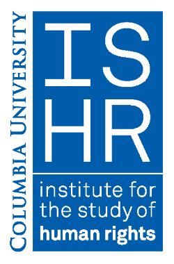 Funded Fellowship: Columbia University Human Rights Advocates Program 2018