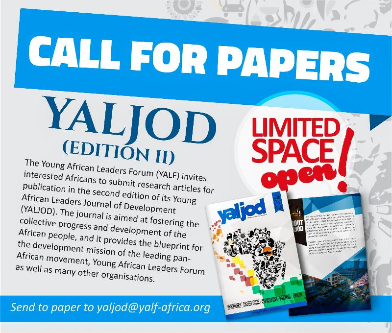 CALL FOR PAPERS:Young African Leaders ForumYALJOD (Edition II)