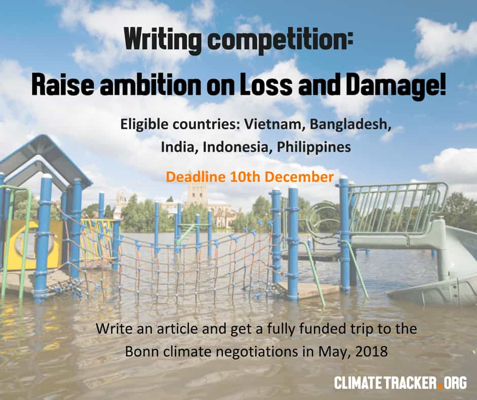 Climate Tracker Writing Fellowship 2018; Bonn Germany (Fully Funded)
