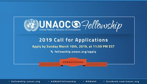 UNAOC Middle East and North Africa (MENA), Europe and North-America (EUNA) Fellowship Programme, 2019 (Fully Funded)